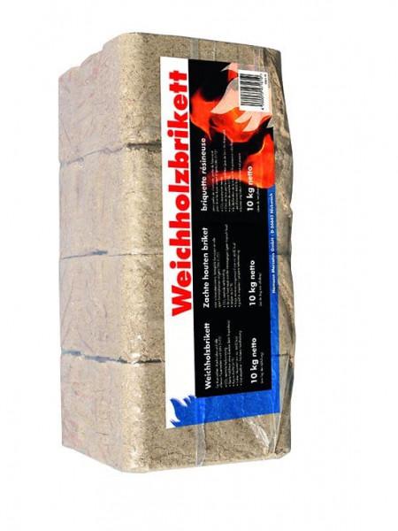 Weichholzbriketts, 10kg